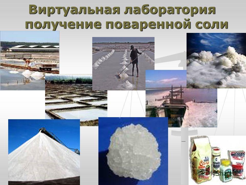 Виртуальная лаборатория получение поваренной соли