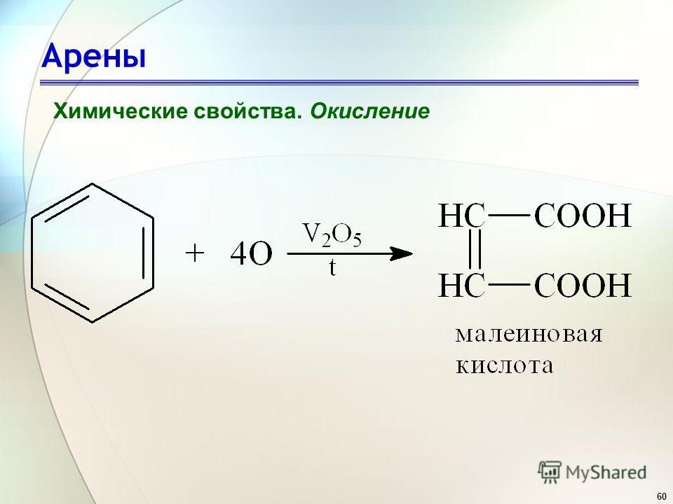 60 Арены Химические свойства. Окисление