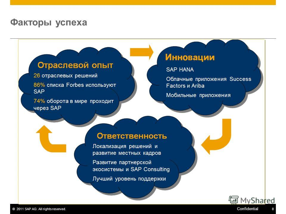 ©2011 SAP AG. All rights reserved.8 Confidential Факторы успеха