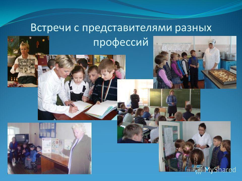 Встречи с представителями разных профессий