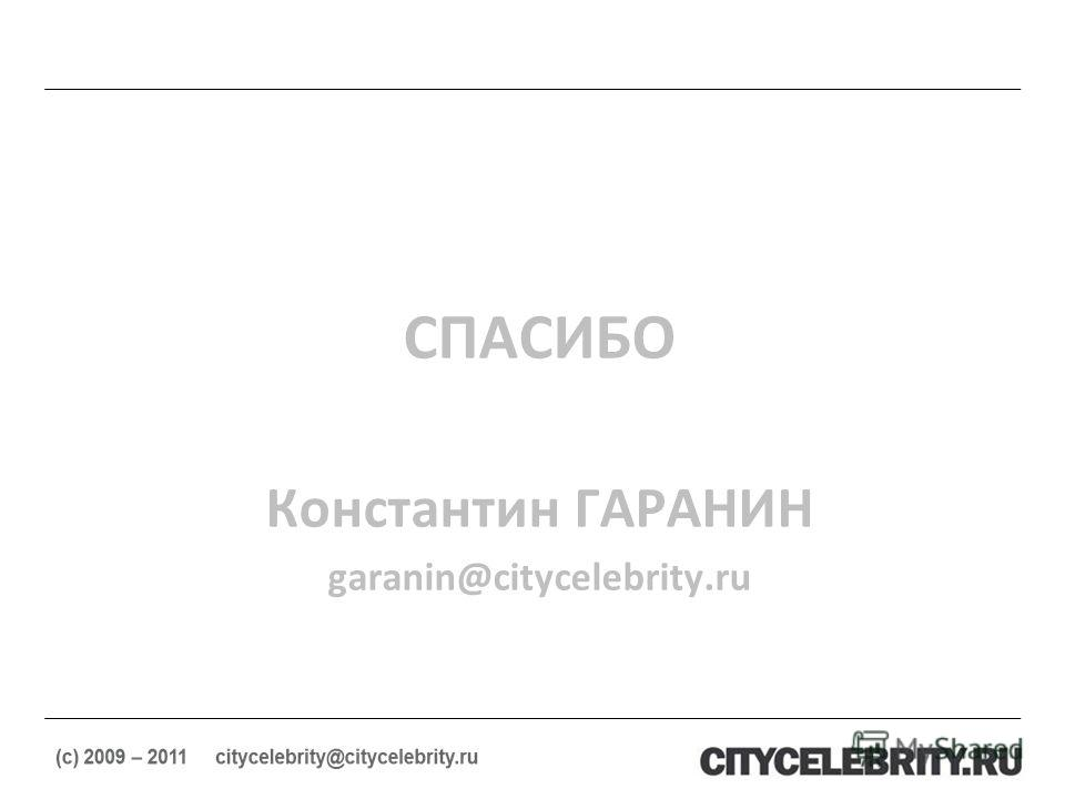 СПАСИБО Константин ГАРАНИН garanin@citycelebrity.ru