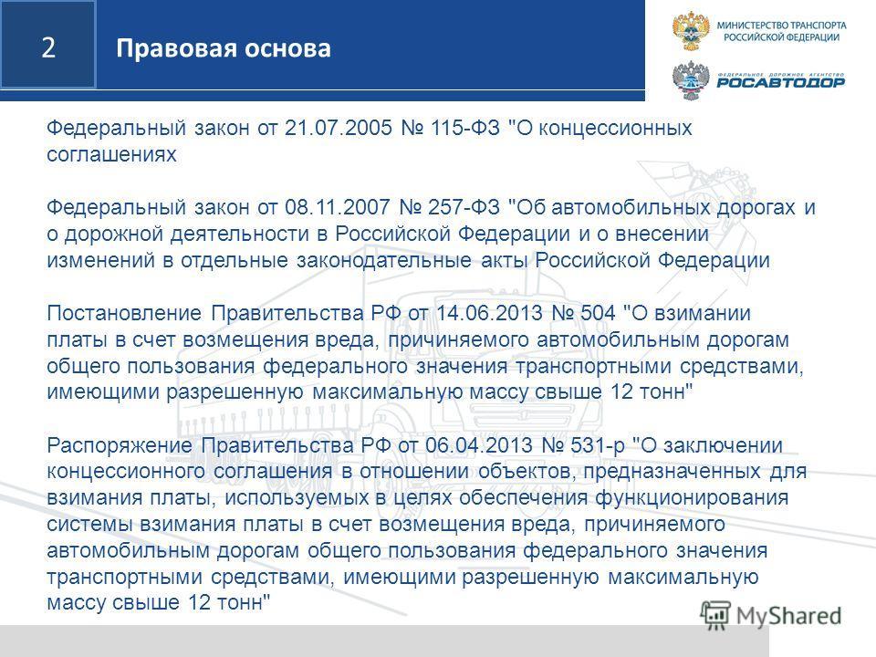 2 Федеральный закон от 21.07.2005 115-ФЗ