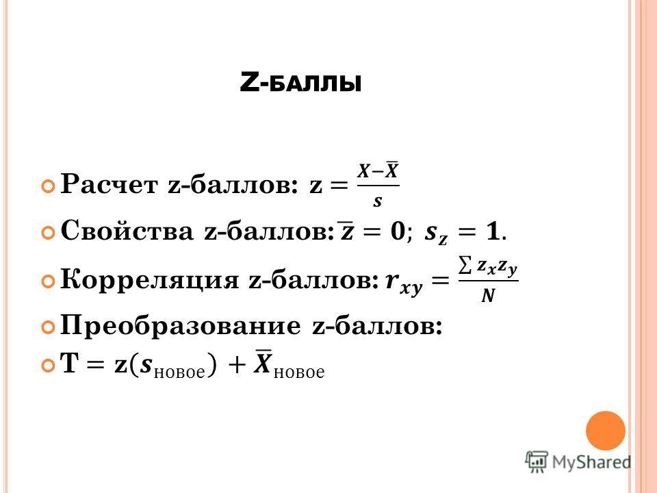 Z- БАЛЛЫ