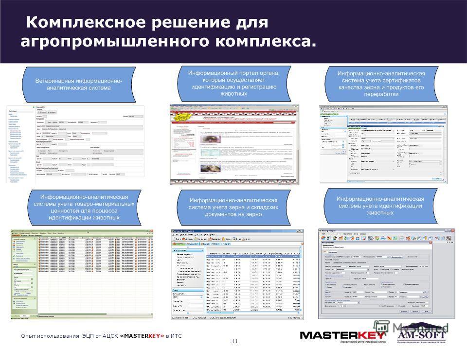 Комплексное решение для агропромышленного комплекса. 11 Опыт использования ЭЦП от АЦСК «MASTERKEY» в ИТС