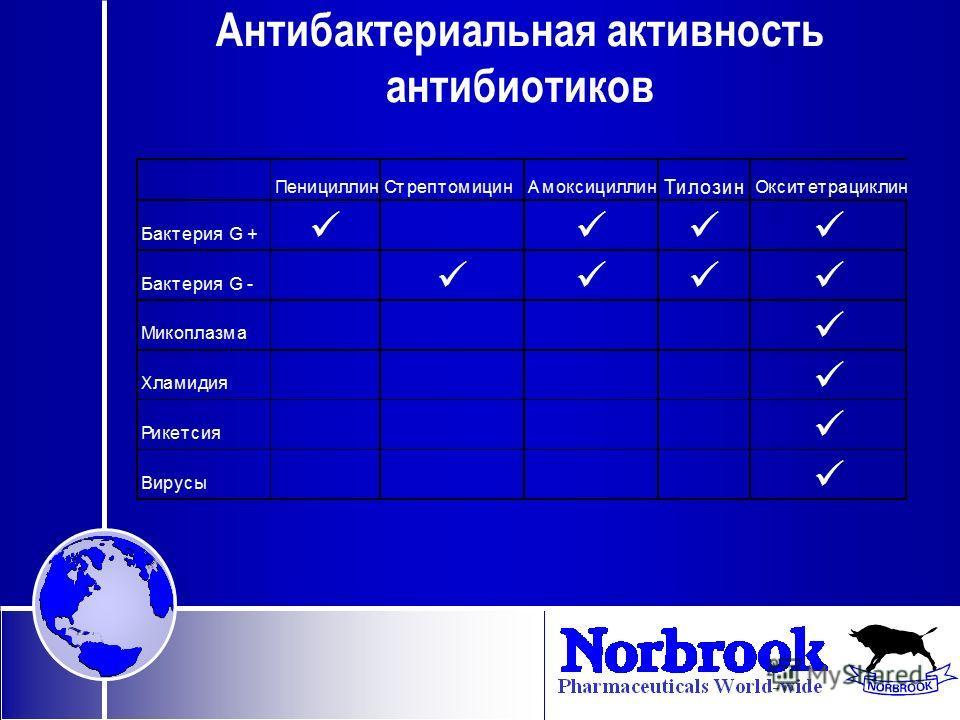 Антибактериальная активность антибиотиков