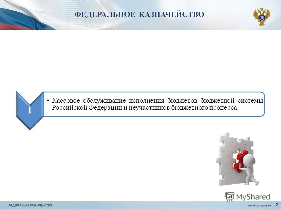 2 1 Кассовое обслуживание исполнения бюджетов бюджетной системы Российской Федерации и неучастников бюджетного процесса ФЕДЕРАЛЬНОЕ КАЗНАЧЕЙСТВО
