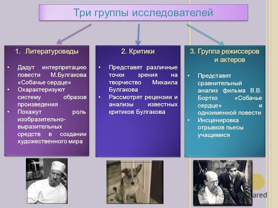 Три группы исследователей