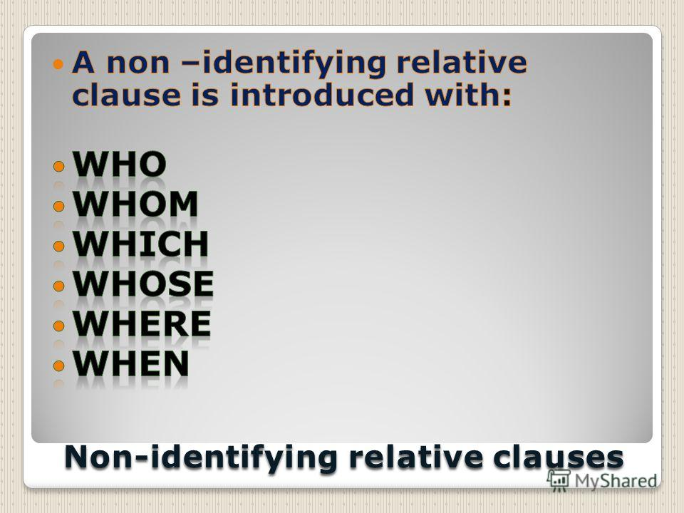 Non-identifying relative clauses