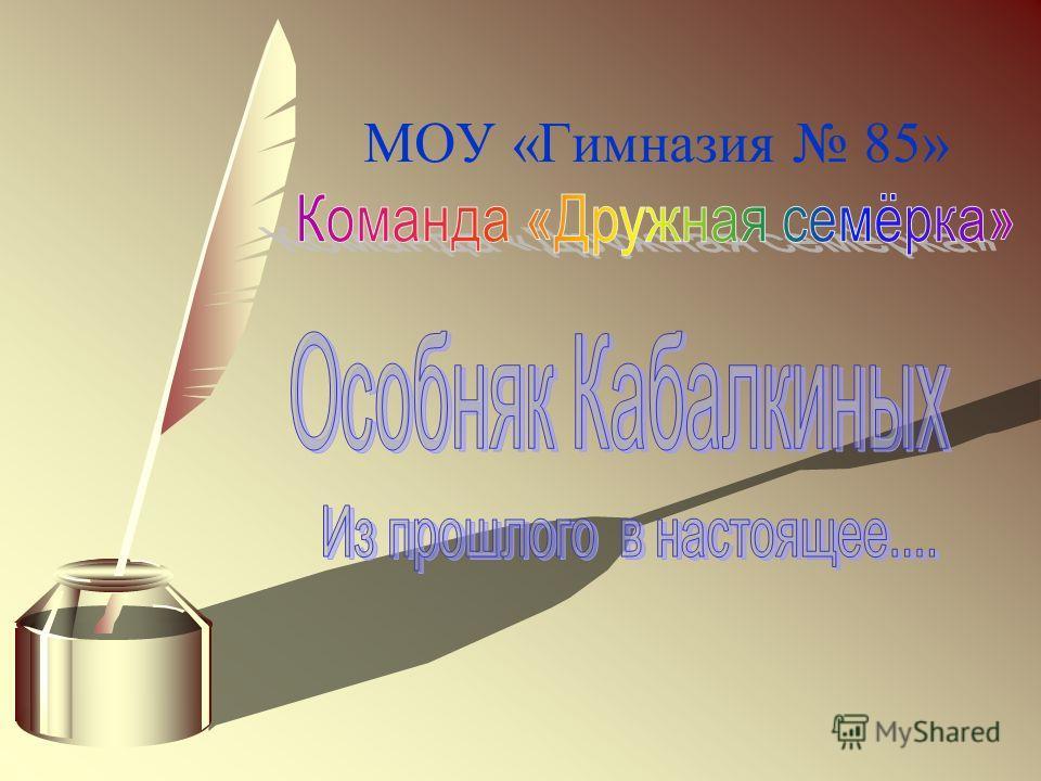 МОУ «Гимназия 85»