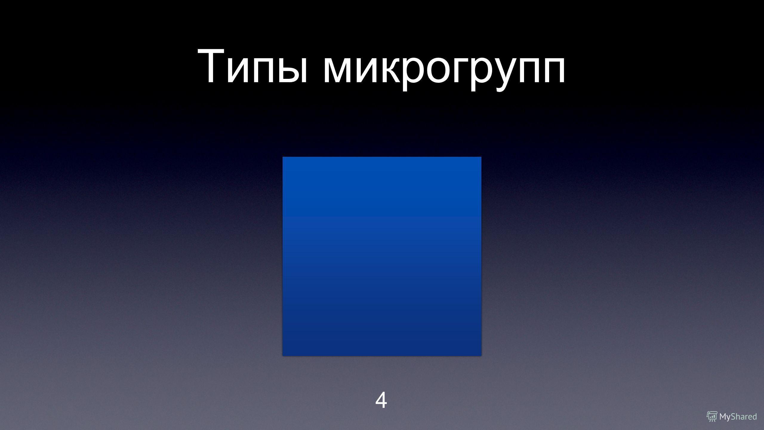 Типы микрогрупп 4