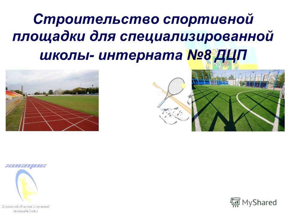 Строительство спортивной площадки для специализированной школы- интерната 8 ДЦП