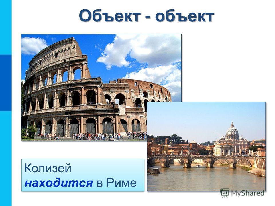 Колизей находится в Риме Объект - объект