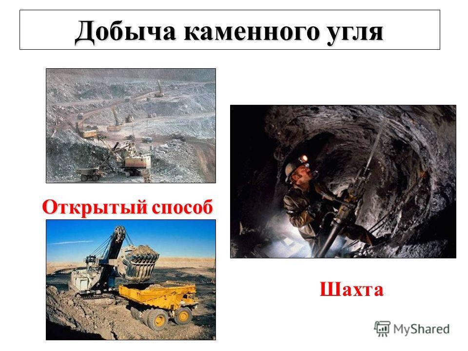 Добыча каменного угля Открытый способ Шахта