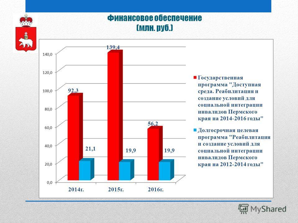 Финансовое обеспечение (млн. руб.)
