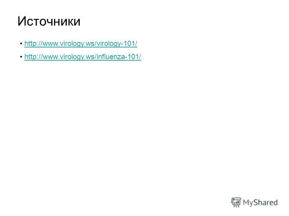 Источники http://www.virology.ws/virology-101/ http://www.virology.ws/influenza-101/
