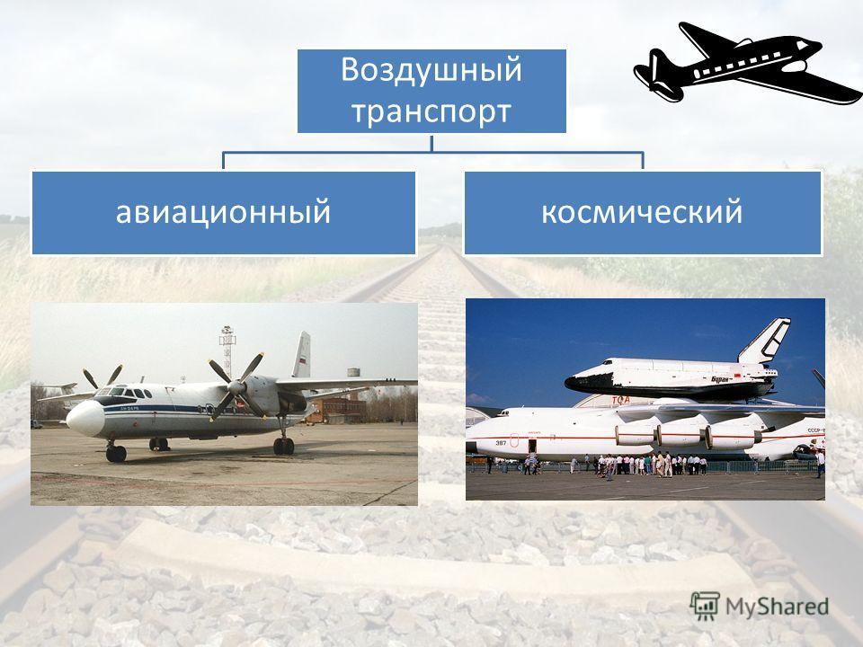 Воздушный транспорт авиационныйкосмический