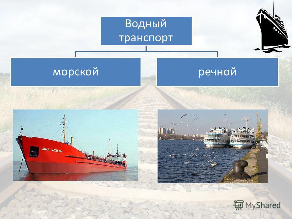 Водный транспорт морскойречной