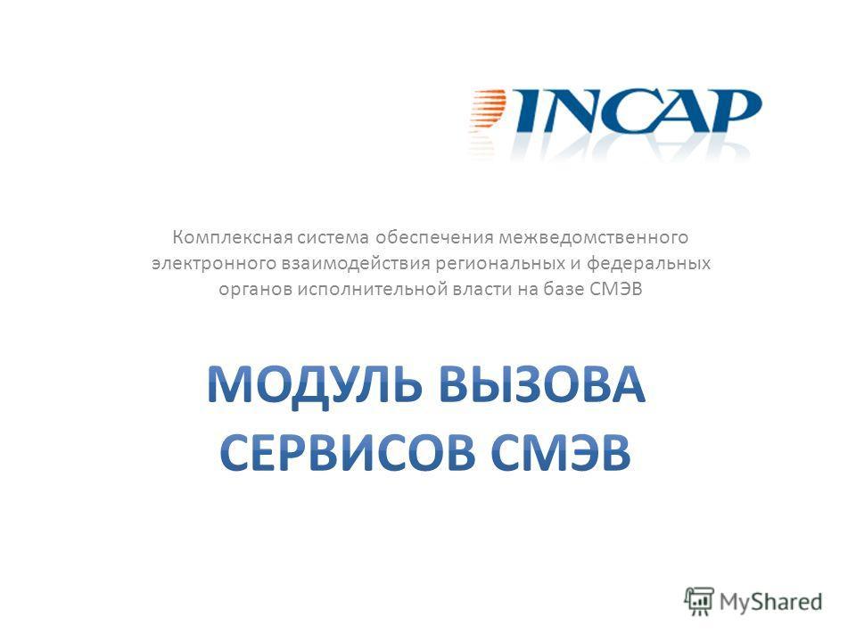 Комплексная система обеспечения межведомственного электронного взаимодействия региональных и федеральных органов исполнительной власти на базе СМЭВ