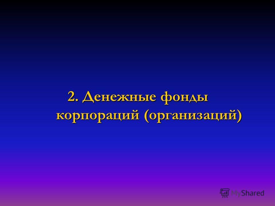2. Денежные фонды корпораций (организаций)