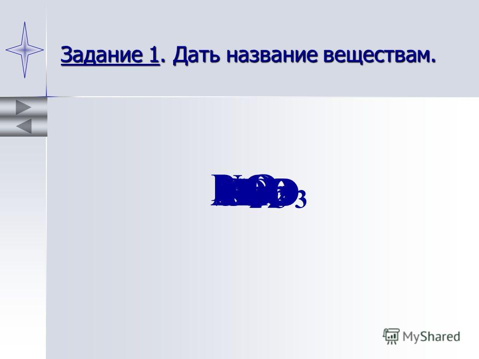Задание 1. Дать название веществам. P2O5P2O5 CuOZnO NO 2 SO 3 Al 2 O 3 H2OH2OSO 2