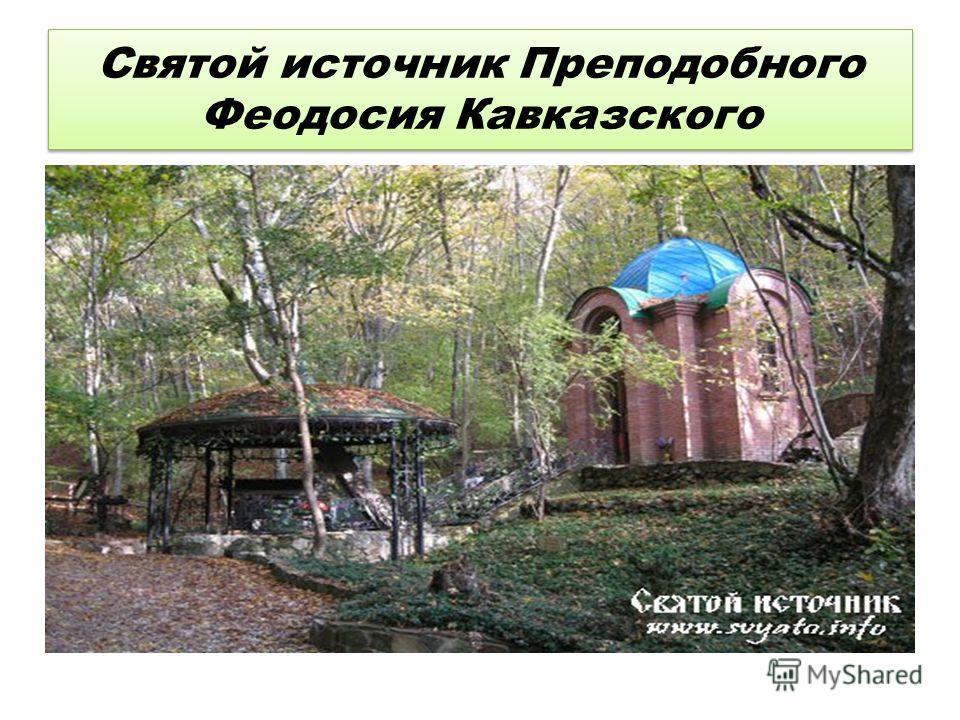 Святой источник Преподобного Феодосия Кавказского
