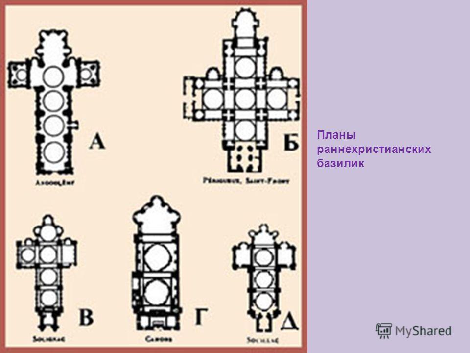 Планы раннехристианских базилик