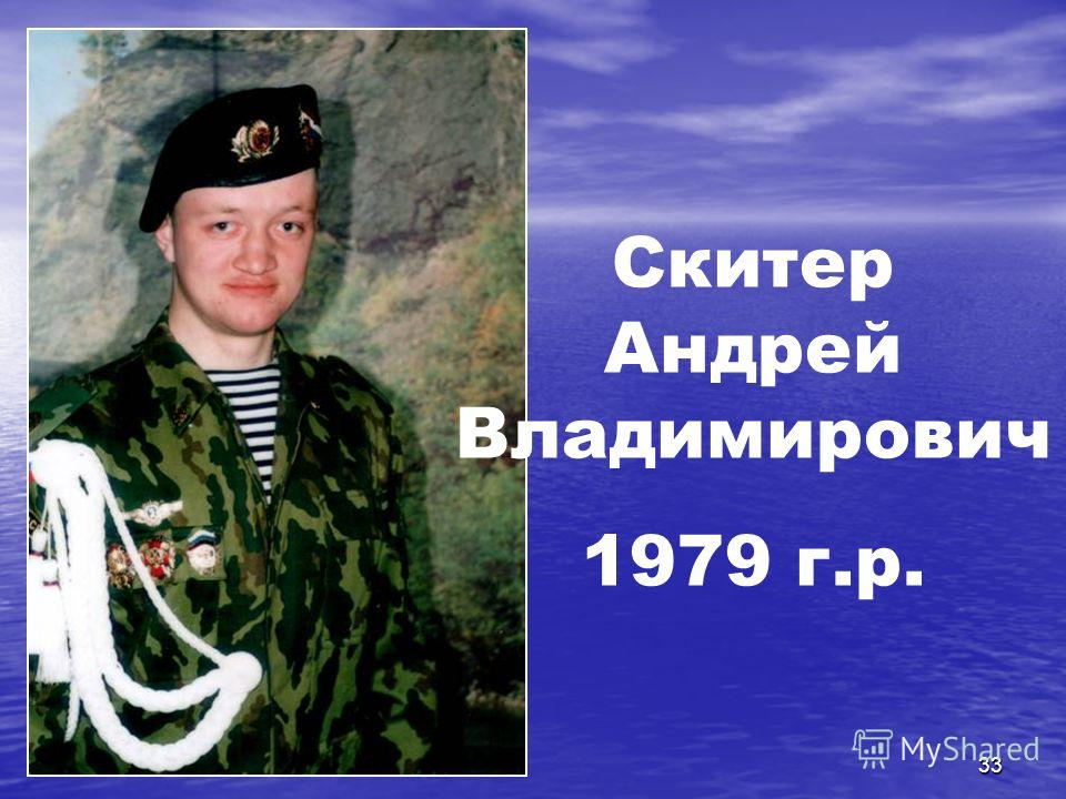 33 Скитер Андрей Владимирович 1979 г.р.