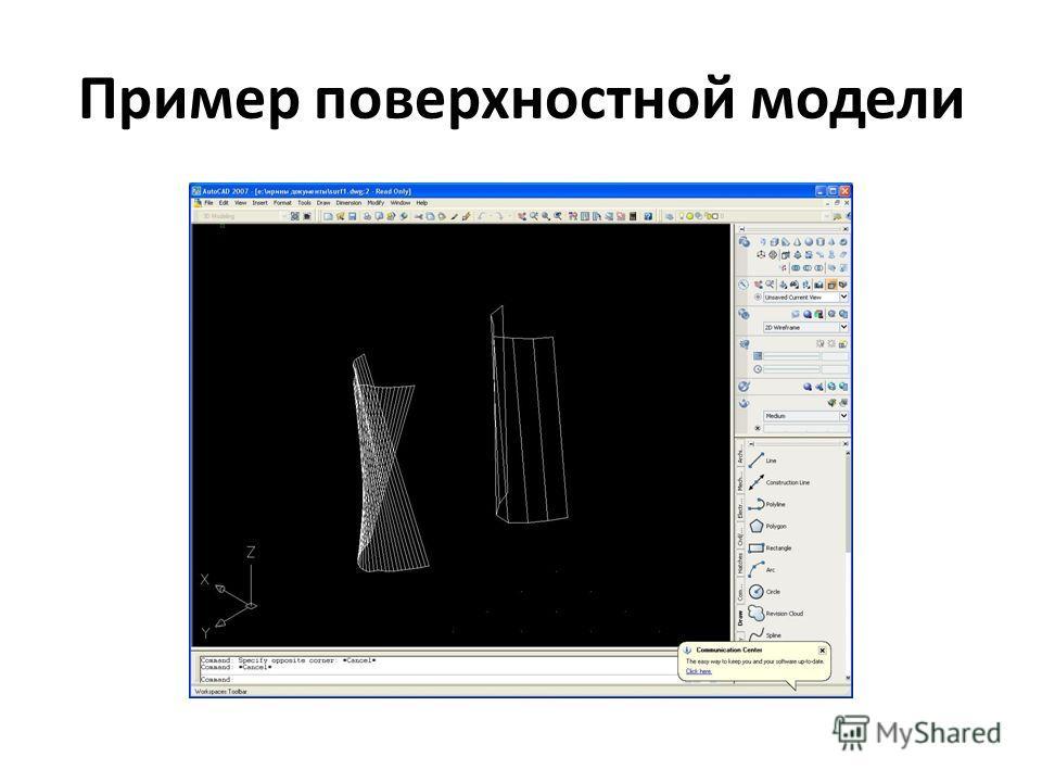 Пример поверхностной модели