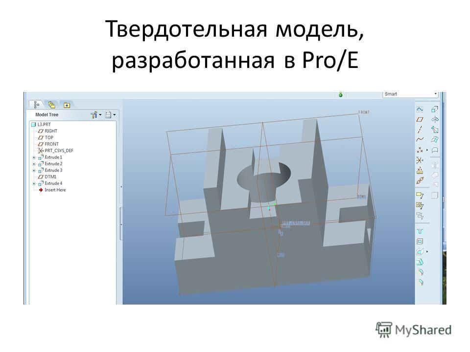 Твердотельная модель, разработанная в Pro/E