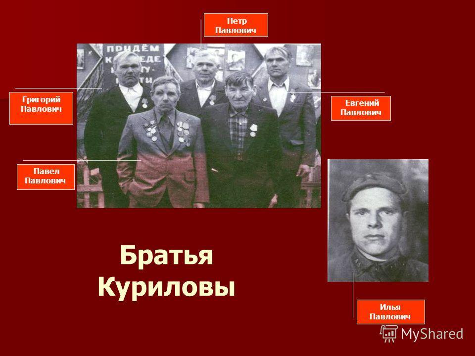 Павел Павлович Григорий Павлович Петр Павлович Евгений Павлович Братья Куриловы Илья Павлович
