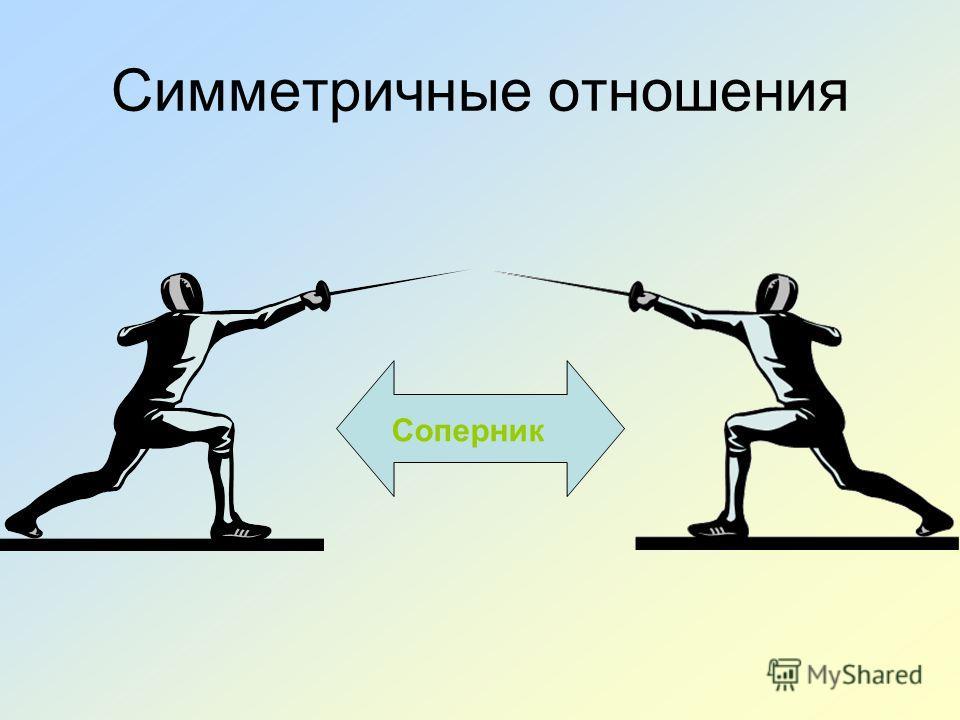 Симметричные отношения Соперник