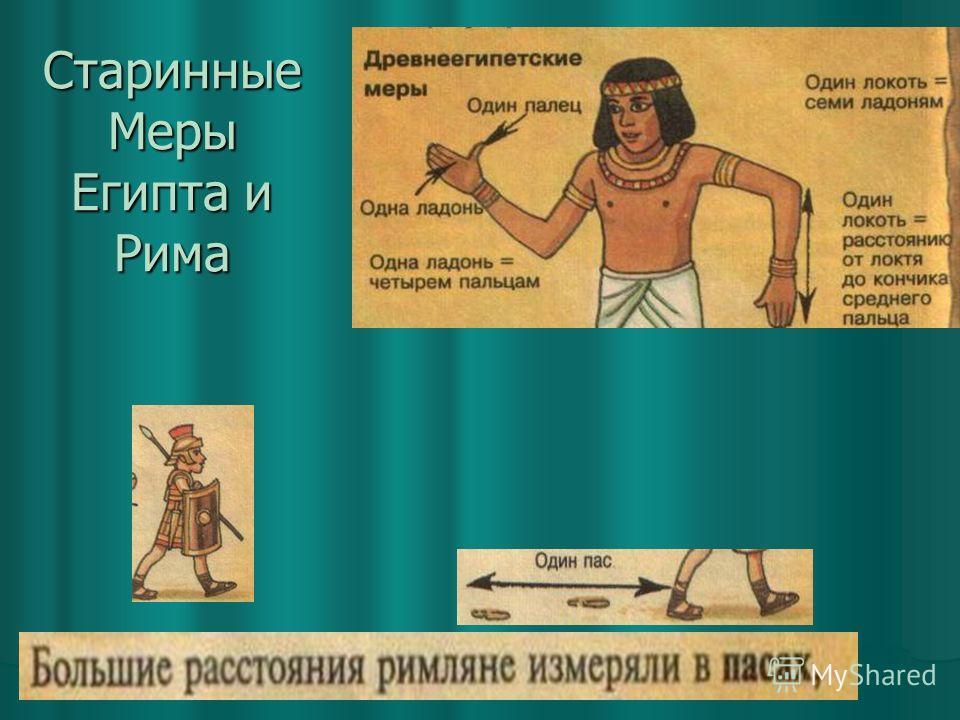 Старинные Меры Египта и Рима