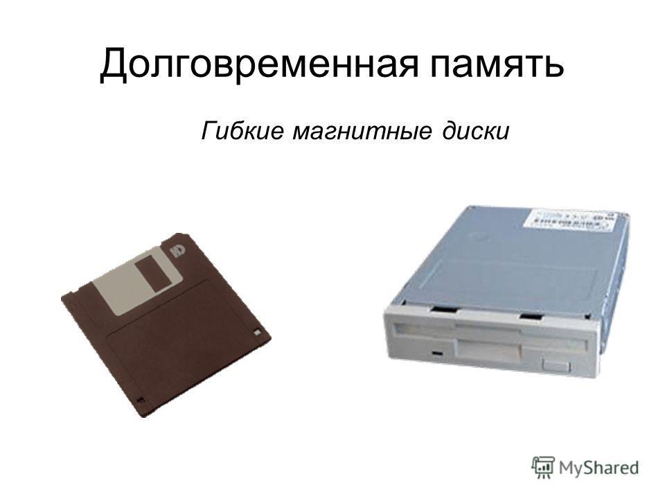 Долговременная память Гибкие магнитные диски