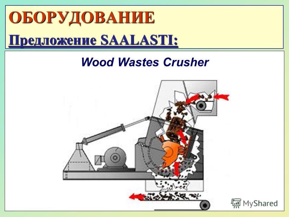ОБОРУДОВАНИЕ Предложение SAALASTI: Wood Wastes Crusher