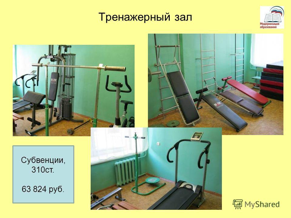 Тренажерный зал Субвенции, 310ст. 63 824 руб.