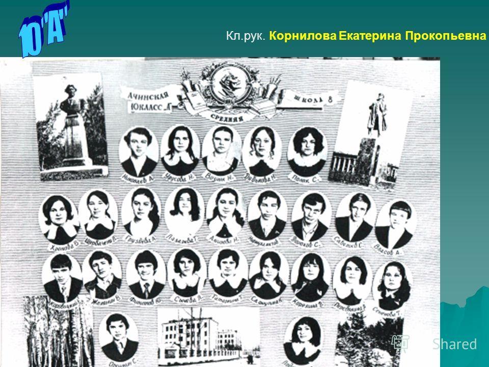 Кл.рук. Корнилова Екатерина Прокопьевна