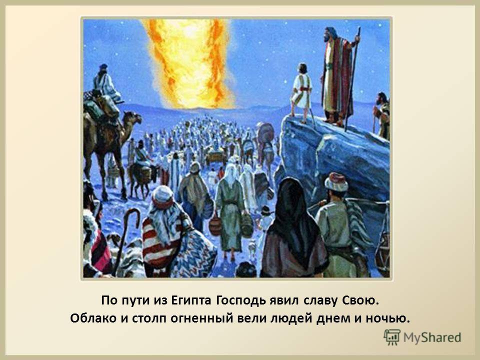 По пути из Египта Господь явил славу Свою. Облако и столп огненный вели людей днем и ночью.