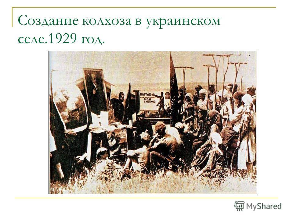 Создание колхоза в украинском селе.1929 год.