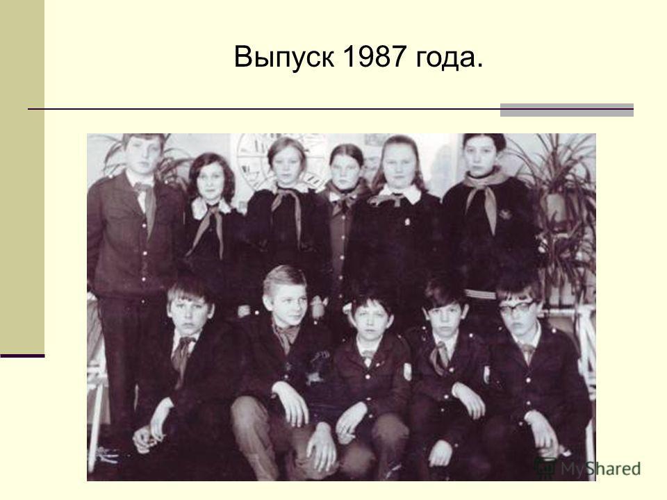 Выпуск 1987 года.