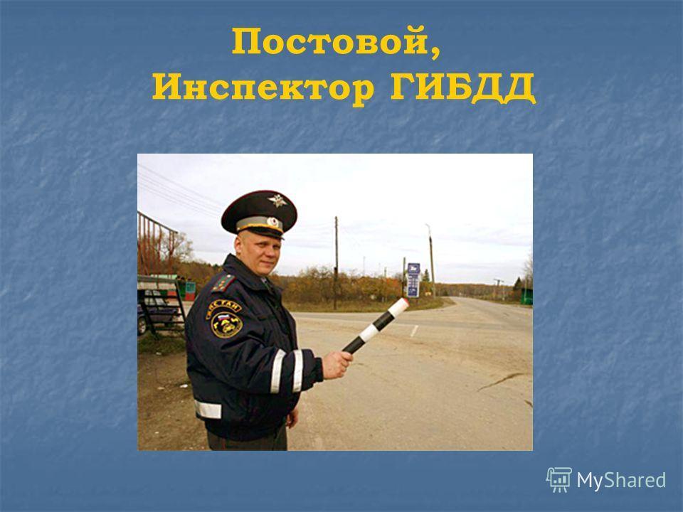 Постовой, Инспектор ГИБДД