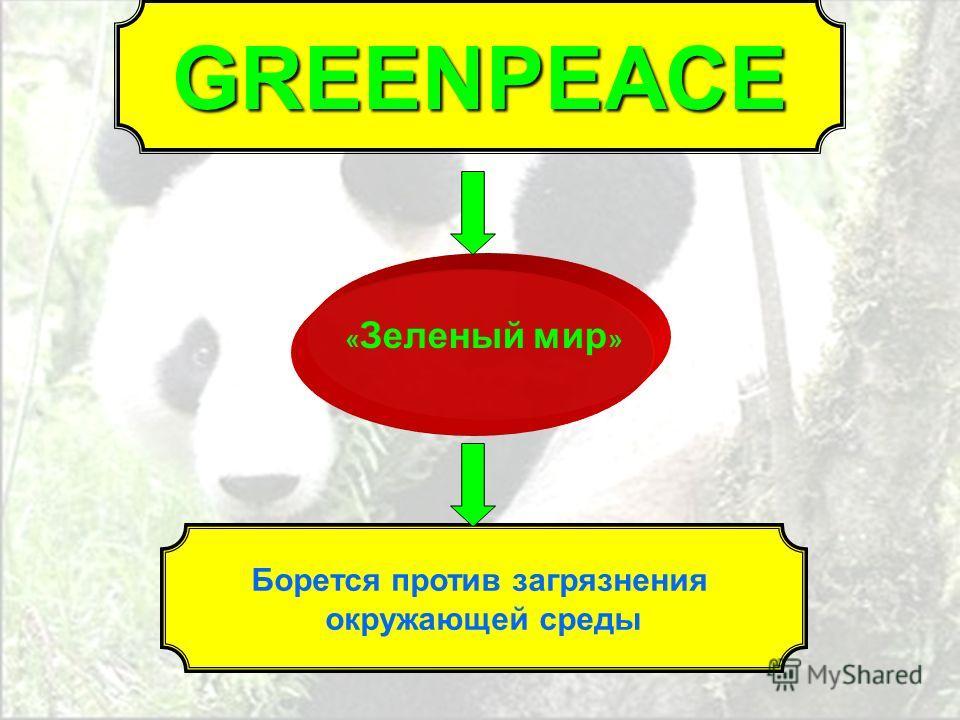 « Зеленый мир » Борется против загрязнения окружающей среды GREENPEACE
