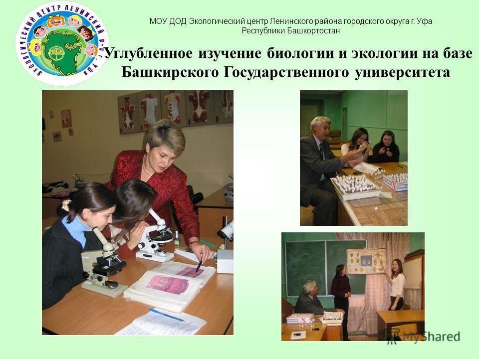 Углубленное изучение биологии и экологии на базе Башкирского Государственного университета
