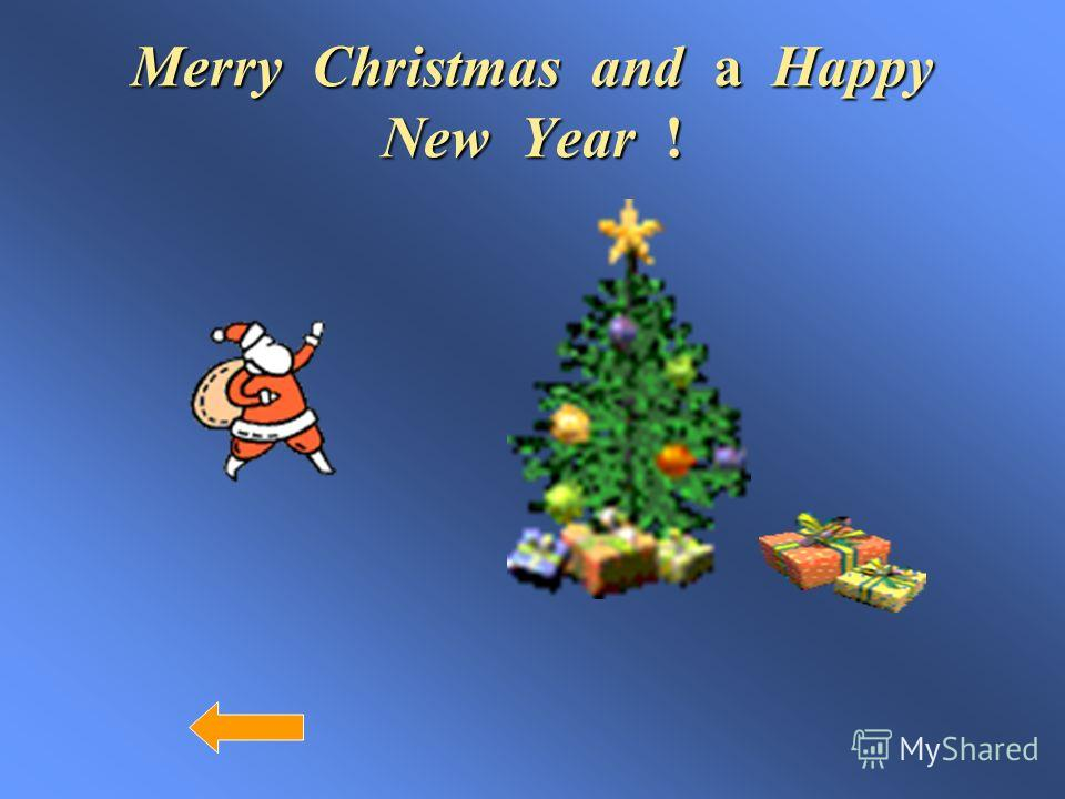 Merry Christmas and a Happy New Year !