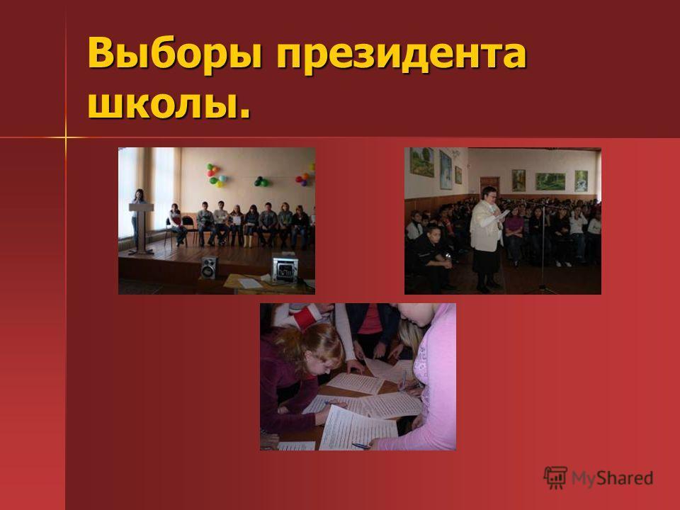 Выборы президента школы.