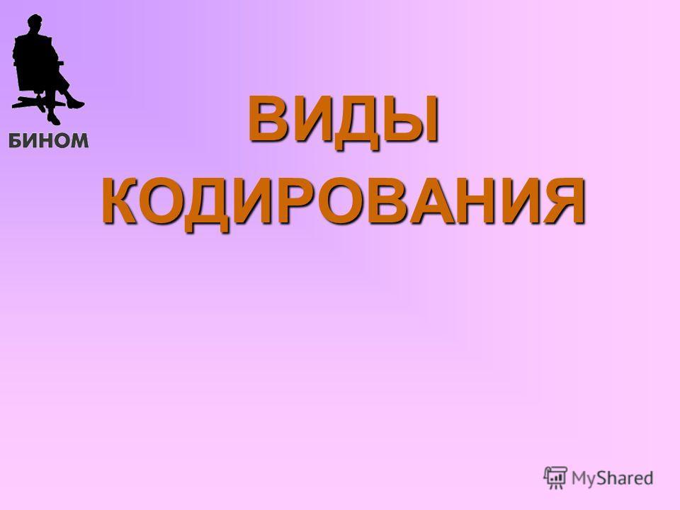 ВИДЫКОДИРОВАНИЯ Б.П.Сайков, 09.06.