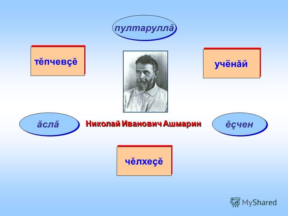 Николай Иванович Ашмарин чĕлхеçĕ учёнăй тĕпчевçĕ ăслă ĕçчен пултаруллă