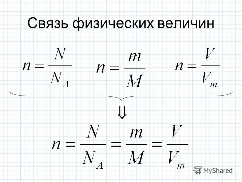 Связь физических величин