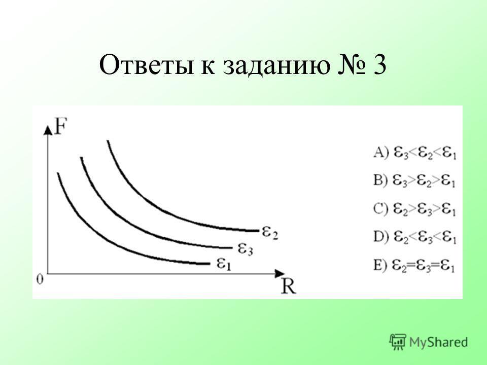 Ответы к заданию 3