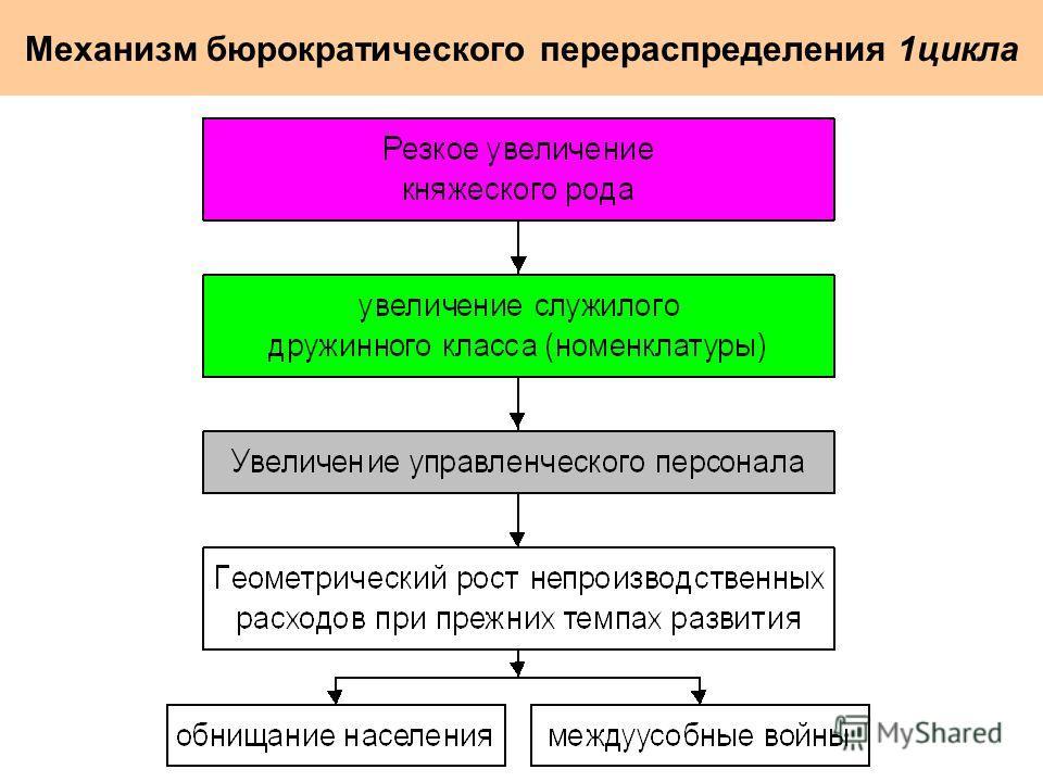 Механизм бюрократического перераспределения 1цикла