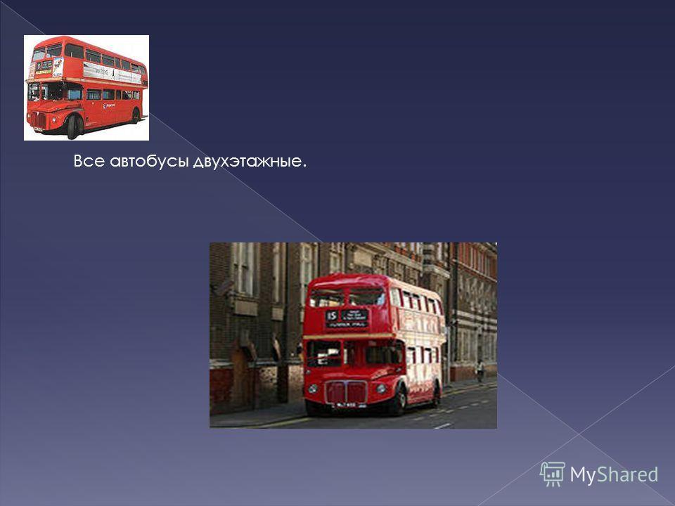 Все автобусы двухэтажные.